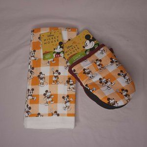 Disney Harvest Mickey Mouse 2 Pack of Kitchen Towels 2 Pack Oversized Mini Mitts